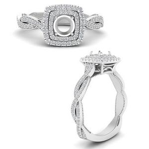 Double Halo Diamond Ring Setting