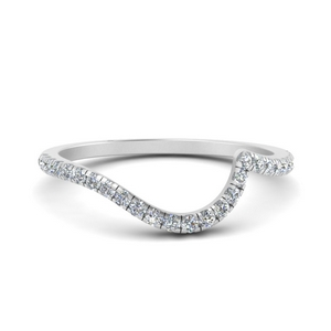 Diamond Band Curved To Fit Ring