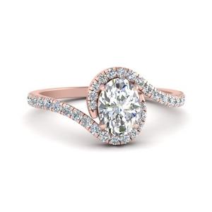 Swirl Man Made Diamond Ring