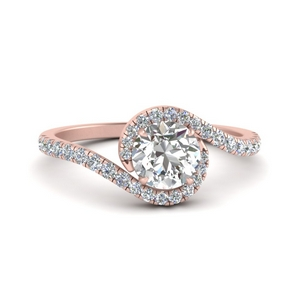 Pave Swirl Diamond Ring