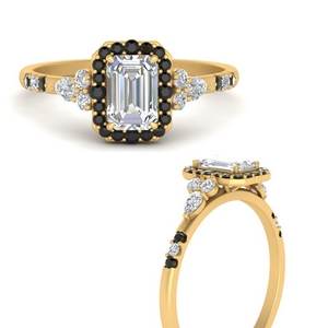 emerald-cut-halo-antique-engagement-ring-with-black-diamond-in-FDENS3234EMRGBLACKANGLE3-NL-YG