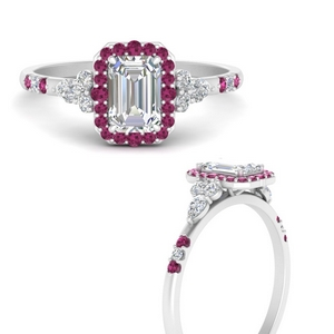 emerald-cut-halo-antique-diamond-engagement-ring-with-pink-sapphire-in-FDENS3234EMRGSADRPIANGLE3-NL-WG