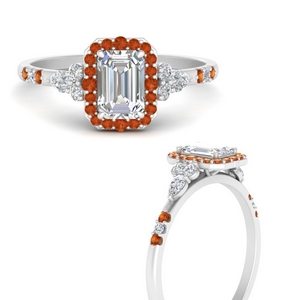 emerald-cut-halo-antique-diamond-engagement-ring-with-orange-sapphire-in-FDENS3234EMRGSAORANGLE3-NL-WG