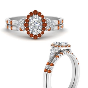oval-halo-edwardian-diamond-wedding-ring-and-band-with-orange-sapphire-in-FDENS3234OVGSAORANGLE3-NL-WG