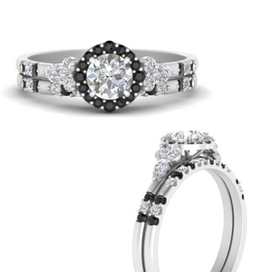 round-halo-edwardian-wedding-ring-and-band-with-black-diamond-in-FDENS3234ROGBLACKANGLE3-NL-WG