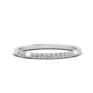 Petite Diamond Wedding Band