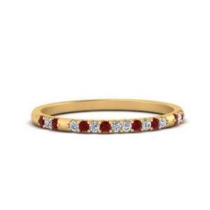 Delicate Ruby Band