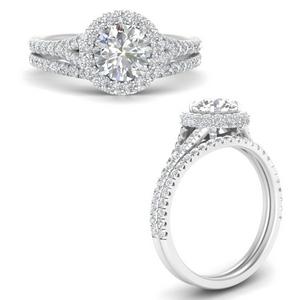 Round Diamond Wedding Sets