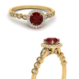 Ruby Vintage Halo Ring