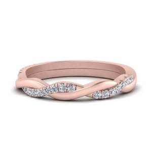 Braided Diamond Wedding Band