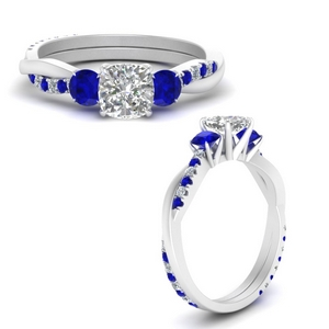 Twisted Vine Cushion Lab Diamond Ring