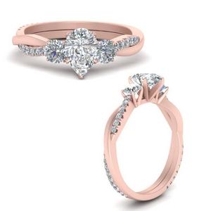 Three Stone Infinity Diamond Ring