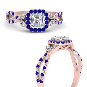 floral-halo-twisted-asscher-cut-diamond-engagement-ring-with-sapphire-in-FDENS3303ASRGSABLANGLE3-NL-RG