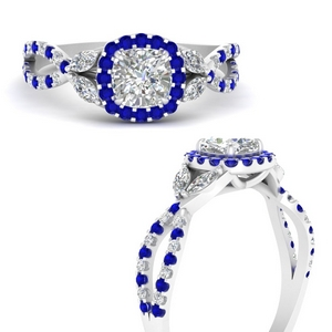 Floral Halo Lab Grown Diamond Ring