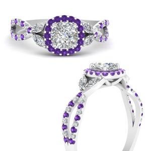 floral-split-shank-cushion-cut-halo-engagement-ring-with-purple-topaz-in-FDENS3303CURGVITOANGLE3-NL-WG