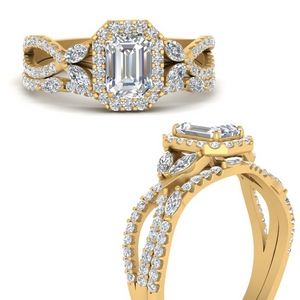 Emerald Cut Wedding Sets Cheap