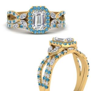 Emerald Cut Wedding Ring Set