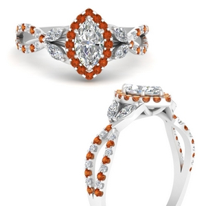 floral-halo-twisted-marquise-cut-diamond-engagement-ring-with-orange-sapphire-in-FDENS3303MQRGSAORANGLE3-NL-WG