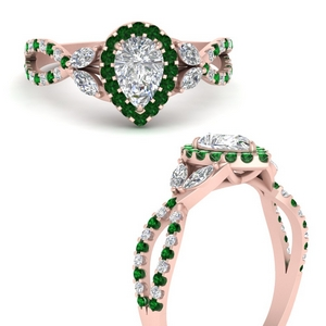 floral-halo-twisted-pear-shaped-diamond-engagement-ring-with-emerald-in-FDENS3303PERGEMGRANGLE3-NL-RG