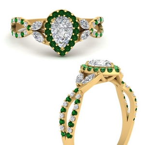 floral-halo-twisted-pear-shaped-diamond-engagement-ring-with-emerald-in-FDENS3303PERGEMGRANGLE3-NL-YG