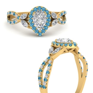 floral-halo-twisted-pear-shaped-diamond-engagement-ring-with-blue-topaz-in-FDENS3303PERGICBLTOANGLE3-NL-YG