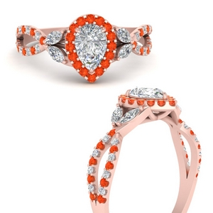 floral-halo-twisted-pear-shaped-diamond-engagement-ring-with-orange-topaz-in-FDENS3303PERGPOTOANGLE3-NL-RG