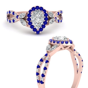 floral-halo-twisted-pear-shaped-diamond-engagement-ring-with-sapphire-in-FDENS3303PERGSABLANGLE3-NL-RG