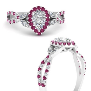 floral-halo-twisted-pear-shaped-diamond-engagement-ring-with-pink-sapphire-in-FDENS3303PERGSADRPIANGLE3-NL-WG
