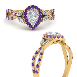 floral-halo-twisted-pear-shaped-diamond-engagement-ring-with-purple-topaz-in-FDENS3303PERGVITOANGLE3-NL-YG