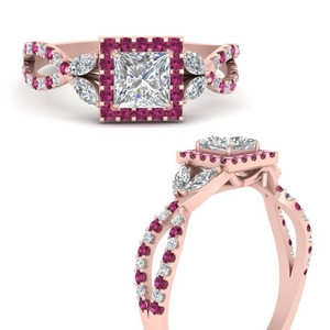 floral-halo-twisted-princess-cut-diamond-engagement-ring-with-pink-sapphire-in-FDENS3303PRRGSADRPIANGLE3-NL-RG