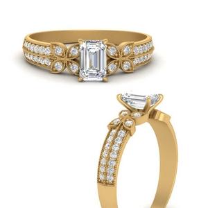 milgrain-petal-vintage-emerald-cut-diamond-engagement-ring-in-FDENS3308EMRANGLE3-NL-YG