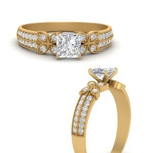 milgrain-petal-vintage-princess-cut-diamond-engagement-ring-in-FDENS3308PRRANGLE3-NL-YG