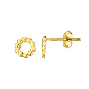 Gold Beaded Stud Earring