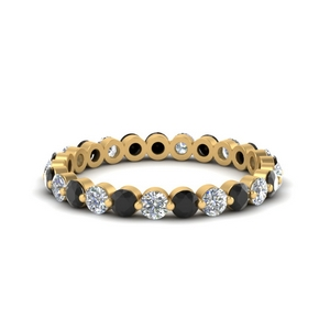 1-carat-single-prong-eternity-wedding-band-with-black-diamond-in-FDEWB9477B(1.00ct)GBLACK-NL-YG