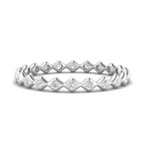 Bezel Set Stack Eternity Band