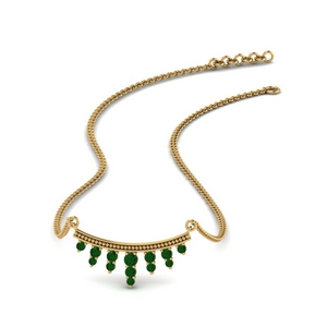 Emerald Gold Drop Necklace
