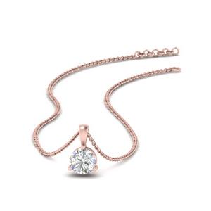 Half Karat Stud Diamond Pendant