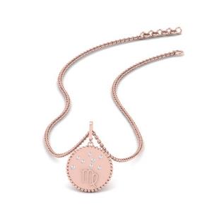 Diamond Disc Virgo Pendant