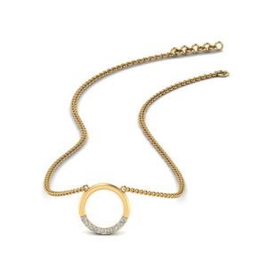 Tiny Circle Diamond Pendant