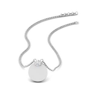 Stackable Disc Diamond Pendant
