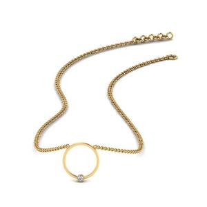Open Circle Diamond Pendant