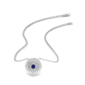 Evil Eye Disc Pendant Gift