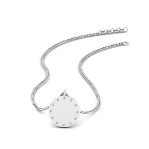 Small Disc Diamond Pendant