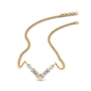 Baguette V Stacking Necklace