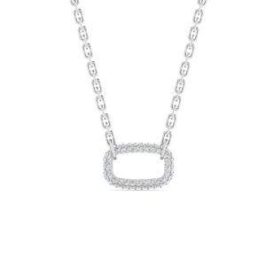 Oval Pave Diamond Necklace