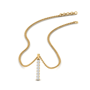 Vertical Bar Affordable Diamond Pendant