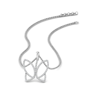 Delicate Butterfly Diamond Necklace