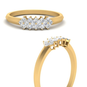 Princess Cut Band For Her
