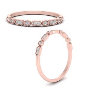 Antique Diamond Stacking Ring