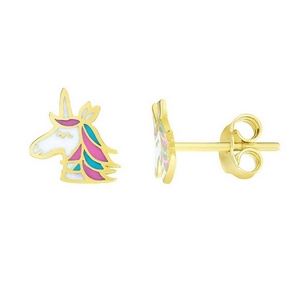 Unicorn Kids Gold Earring